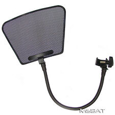 Recording Studio Microphone POP Filter - Louvered Metal Mesh  - Flat Top