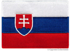 SLOVAKIA FLAG embroidered iron-on PATCH SLOVAK EMBLEM international applique