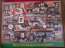 "1987 All Star Game Collage Poster in Oakland 31x23"" Many pictures of earlier AS"