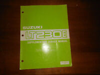 Suzuki OEM Supplementary Service Manual LT230E 99501-42100-01E