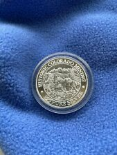 Sterling silver coin, Historic Colorado Mining,Am. Wildlife series