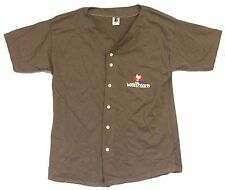 WOODSTOCK '99 1999 BAND LIST BROWN BASEBALL JERSEY SHIRT XL NEW NOS OFFICIAL