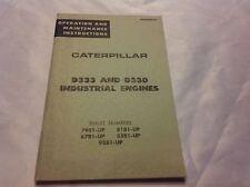 Caterpillar D333 D330 Industrial Engine Operation Maintenance Instruction Manual