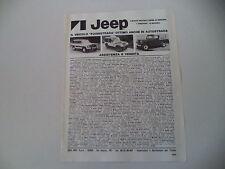 advertising Pubblicità 1980 JEEP CHEROKEE CHIEF/GOLDEN EAGLE