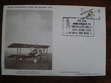 RAF ROYAL AIR FORCE 1968 Sopwith Camel Fighter Maximum Card, corner crease