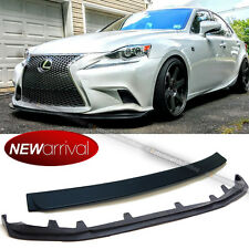 For 14-16 F Sport IS200t IS250 IS350 Unpainted Front Lip + Rear Roof Spoiler