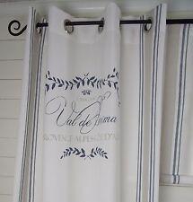 Vorhang MAJE BLAU Gardine 120x240  2 Stück LillaBelle Shabby Landhaus Curtain
