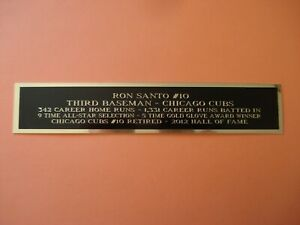 Ron Santo Cubs Engraved Nameplate For A Baseball Jersey Display Case 1.5 X 6