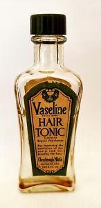 VINTAGE VASELINE HAIR TONIC BOTTLE CHESEBROUGH MFG. CO. BARBER