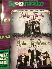 The Addams Family & Addams Family Values (DVD) NEW Includes Treat Bag