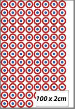 100 petits autocollants bleu blanc rouge cocarde adhésif 2 cm