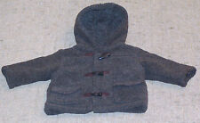 THE CHILDREN'S PLACE BOY'S HOODED GRAY WINTER COAT / JACKET  size 12M color GRAY