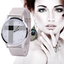 Montre femme maille en acier élégant Montre bracelet classique Quartz analogique
