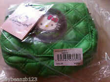 green GENUINE VICTORIA CASAL COUTURE HELLO KITTY QUILTED BAG SHOULDER  HANDBAG