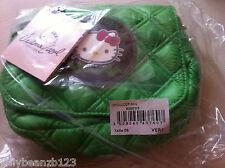 Vert véritable Victoria Casal Couture Hello Kitty matelassé sac épaule sac à main
