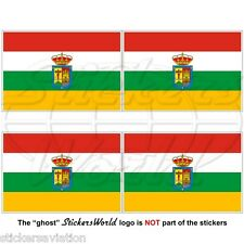 "LA RIOJA Flag SPAIN Comunidad Autónoma Spanish 50mm(2"") Vinyl Stickers Decals x4"