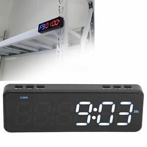 LED Display Interval Timer Clock Stopwatch Wall Bluetooths Home Gym Fitness