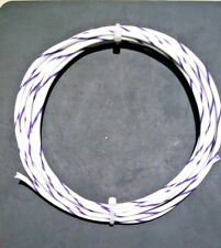 16 AWG  Mil-Spec Wire Type E, Wht/Vio (PTFE) Stranded Silver Plated Copper,10 ft