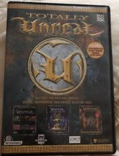 4 DISC PC CD ROMTOTALLY UNREAL TOURNAMENT + UNREAL MISSION PACK /+ 2 EXTRA MODES