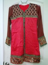 Pakistani Designer Indian dress,Party wear KURTI /Tunic size L Color Red