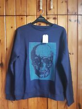 Next Boy's Skeleton Graphic Print Sweat Top/Jumper Size 13 Years Colour Blue