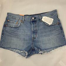 Levis 501 Women's Original Fit Straight Leg Button Fly Cut Off Shorts Size 31