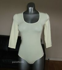 WOLFORD TOKIO STRING BODY SIZE SMALL in primrose - cream, pale yellow New in box