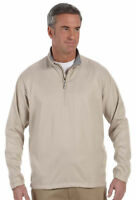Ashworth Men's Drawstring Waistband Mock Neck Polyester Half Zip Jacket. 5330
