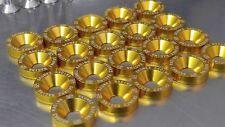 20 PCS M6X20  S2 GOLD FENDER BOLT / WASHER DRESS UP KIT