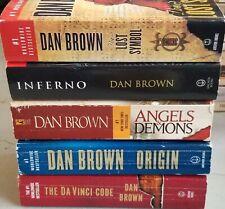 New listing Lot Dan Brown Complete Robert Langdon Set 1-5 Inferno/Da Vinci Code+