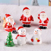 KQ_ FT- BL_ FT- Garden Miniature Snowman Christmas Accessory Santa Claus Figurin