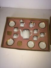 Antique Doll Tea Set Germany Teeny Porcelain W Org Box