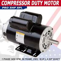 5 HP SPL (3.5HP) Air Compressor Duty Electric Motor 56 Frame 3450 RPM 1 Phase AA