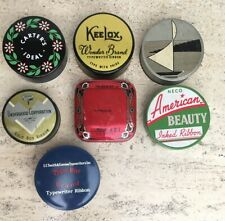 7 Vintage Typewriter Ribbon Tins Collection LOT American Beauty KEELOX Underwood