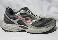 Nike Air Running Training Shoe 311996 111 Womens 9.5 M White Pink Silver Sneaker