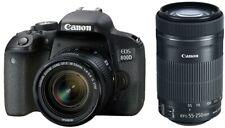 EOS 800D Digital Camera + EF-S 18-55mm IS STM + EF-S 55-250mm IS STM