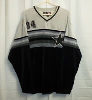 212 NYC Dallas Cowboys Velour V-Neck Pullover Men's XL Shirt Sweater
