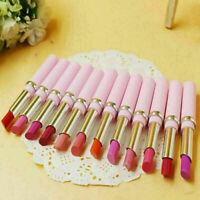 12 Stück nackte Lippenstifte Make-up dauerhafte Lipgloss Kosmetik-Sc Set Ma G2G4