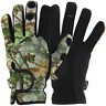 Large Camo Neoprene Gloves, Fold Back Fingers for Fishing, Hunting & Shooting