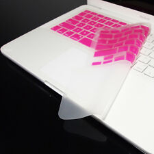 FULL PINK Keyboard Skin Cover Case for Macbook White 13""