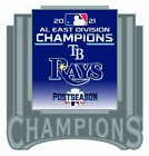2021 TAMPA BAY RAYS AMERICAN LEAGUE PIN EAST DIVISION CHAMPION WORLD SERIES