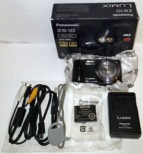 (OPEN BOX)Panasonic Lumix DMC-ZS10 (BLACK)14MP 3'' SCREEN 16X SLR DIGITAL CAMERA