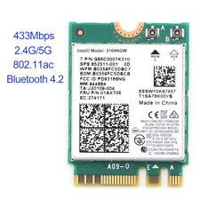 Wireless Intel 3168 3168NGW Dual Band 433Mbps 802.11ac BT4.2 NGFF M.2 Wifi Card