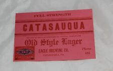 Vintage Catasauqua Old Style Lager Beer Label  Free Shipping