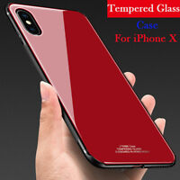 Luxury Ultra Thin Shockproof Hybrid Glass Bumper Case Cover For Apple iPhone X