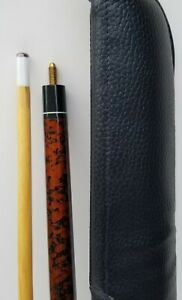 Vintage Harvard Pool Cue, New Old Stock Wrapped Handle. Soft Case.