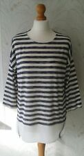 Atmosphere Primark Blue White Striped Long Top with Zips Size 12