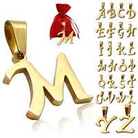 Kettenanhänger Buchstabe Halskette Name Edelstahl Damen Charm Alphabet Anhänger