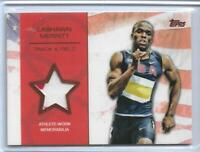 RARE 2012 TOPPS OLYMPIC LASHAWN MERRITT BRONZE 2 COLOR RELIC CARD ~ /75 ~ TRACK