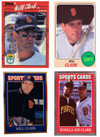 (4) Will Clark Odd-Ball Baseball Trading Card Lot San Francisco Giants